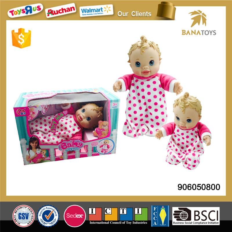 Free Shipping Mini reborn soft silicone baby dolls