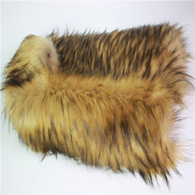 WINTAI 100% Acrylic Long Hair Faux Raccon Fur Fabric