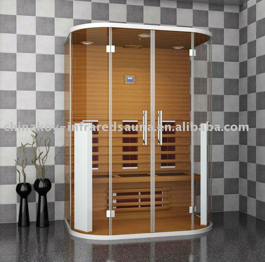 new design glass far infrared sauna room(with CE, EMC and TUV certificate)