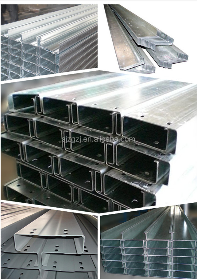 c purlins price and Z purlin, steel purlin prices steel profile, Building Materials types of purlin