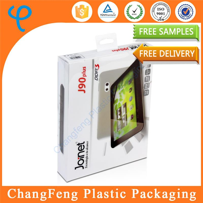 Hot sale plastic display box for tablet computer case packaging