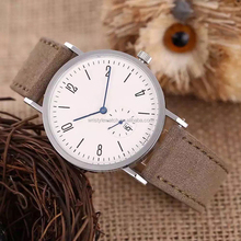 new style arabic face soft leather uinsex wristwatches, 38mm calendar slim hands fashion watch