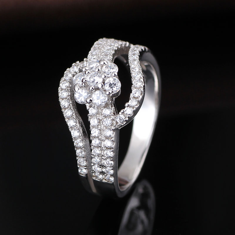 online silver jewellery store ladies silver band beautiful finger ring