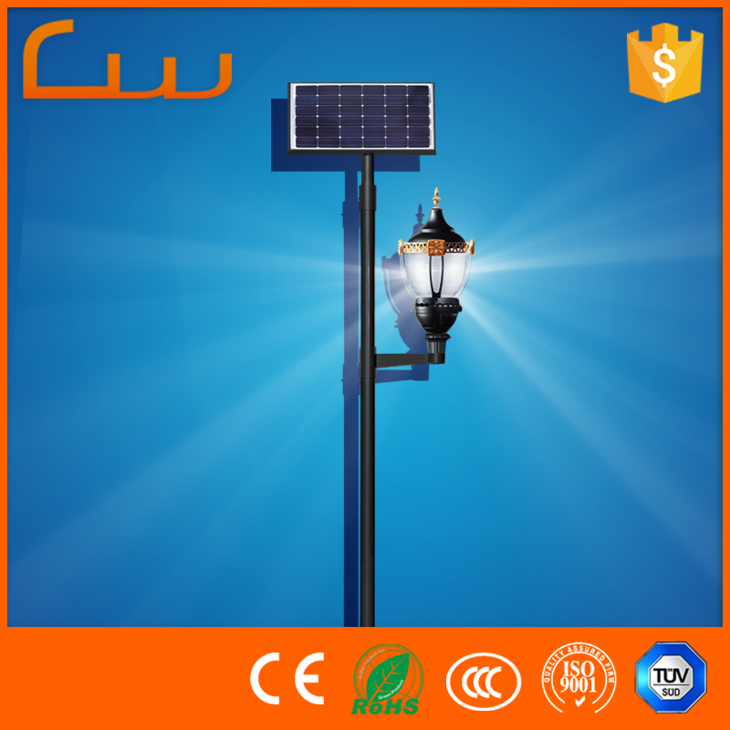 CE CCC RoHS TUV factory supply LED solar garden light pole spot lights