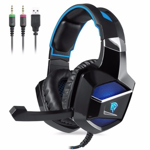 Free Sample Shenzhen Stereo PC Gaming Headphone Player Wired Game Computer Mobile USB Headset