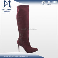 High heel sheepskin boots provide by leather shoes manufacturers