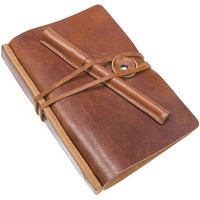 Veg Tanned Italian Leather Notebook Cover with 6 Ring Binder Includes Leather Pen with Cap / Leather Swivel Ring Tie