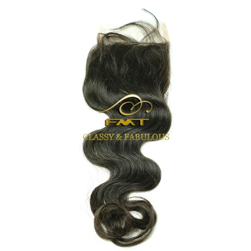 FMT 100% pre braided best selling hair lace closure UK ladies human hair pieces for top of head