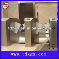 304 1.2mm Stainless Steel Access Control Retractable flap barrier,automatic flap turnstile,security flap barrier gate