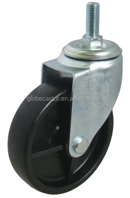 Industrial PP material swivel screw in caster