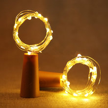 Fairy LED Copper Wire bottle Wine cork String Lights for Party