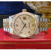 Datejust Diamonds Yellow Gold Stainless Steel Watch