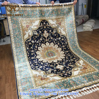 turkish handmade 170x245cm hand knotted persian qum rug 100% silk