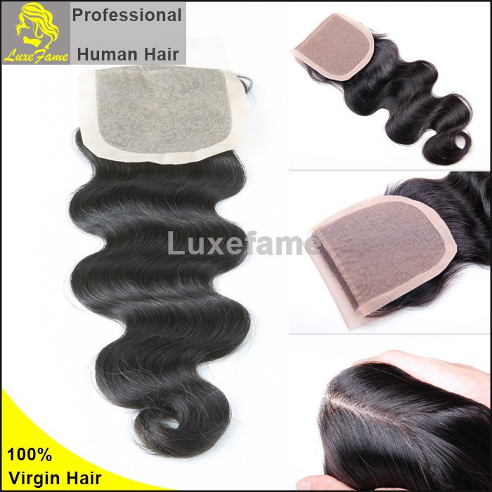 Luxefame fast delivery unprocessed full cuticle free style top grade 6A silk base closure