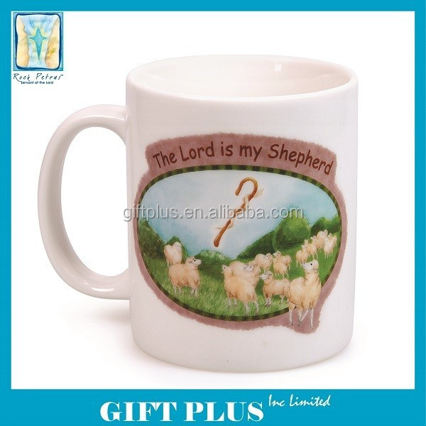 Rock Petrus The Lord is my Shepherd Religious Ceramic 11-ounce Mug