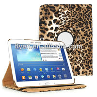 "leopard print 360 Rotating Leather Case Cover Skin Stand for Samsung Galaxy Tab 3 10.1"" P5200"