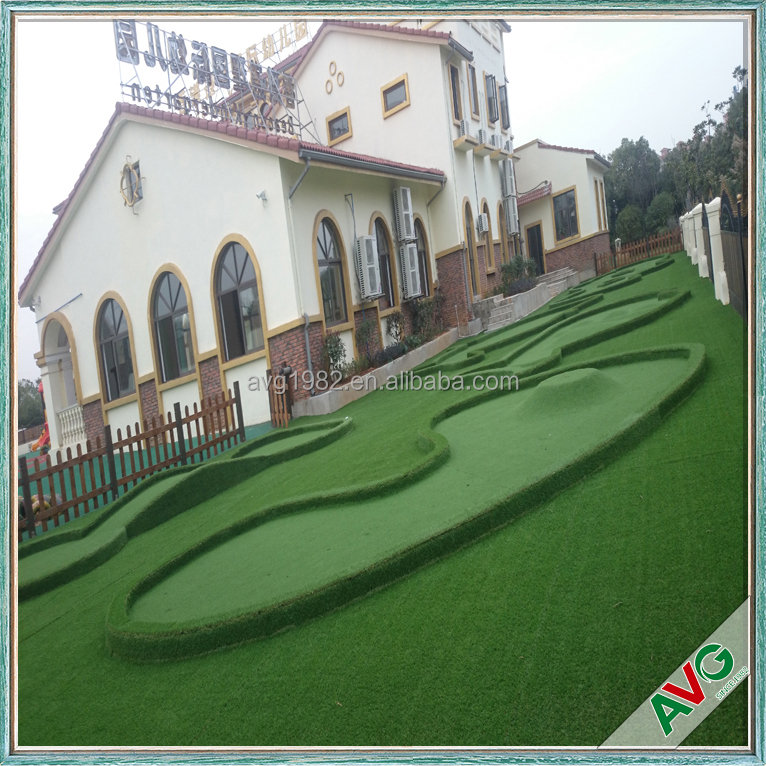 High quality environmental artificial turf landscape