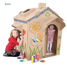 Hot Sale Custom Cardboard Toy Play House,Children's Paper Cardboard House Factory Supplier