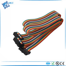 16 Pin 16 Way F/F Connector Idc Flat Rainbow Color Ribbon Cable