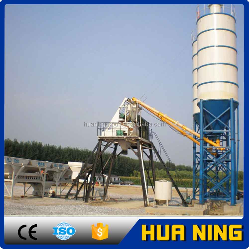 HZS35 electric driven concrete batching plant for sale
