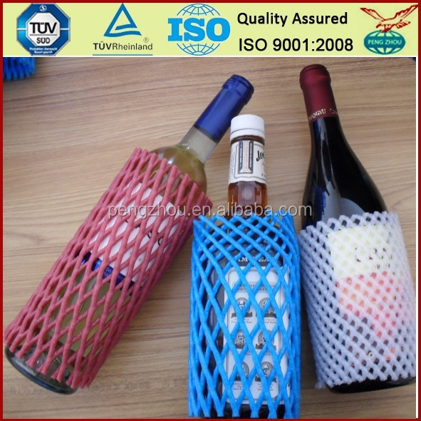 For Transport Different Types Distribution FDA Certifications EPE Plastic Protective Bottle Foam Sleeve <strong>Net</strong>