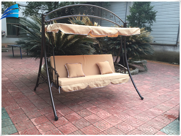 Luxury Garden Patio Canopy Swing Chair/Steel Garden Swing