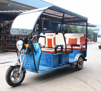 48v 800w China Cheap Electric 3 Wheeler with Roof for passenger