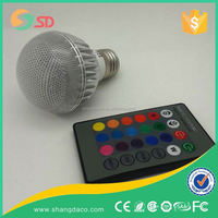 led 10w RGB bulb with remote dimmable E27 10w RGB led bulb RGB warm white cool white color