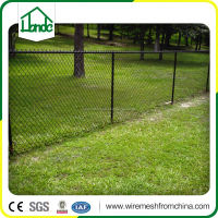 black galvanized high chain link fence for sale