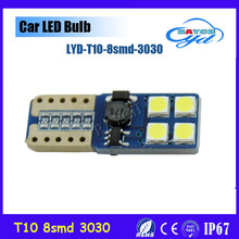 T10 8LED 12V W5W 3W 6000K Cars From Canbus Light-Emitting Diodes 3030 Independent 8 Led Bulb No Errors Univ era Auto Lamp