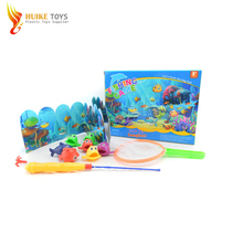 Cute cartoon battery operated fishing game with light for kids
