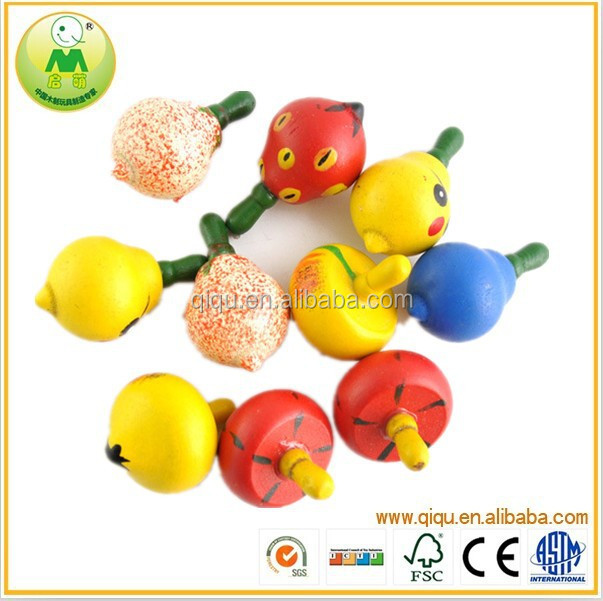 2015 Handmade wooden spinning top,super top toys,wind up spinning top toy
