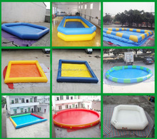 China cheap inflatable square swimming pool for swimming