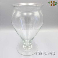 bulk wholesale footed glass vases for flower arrangements