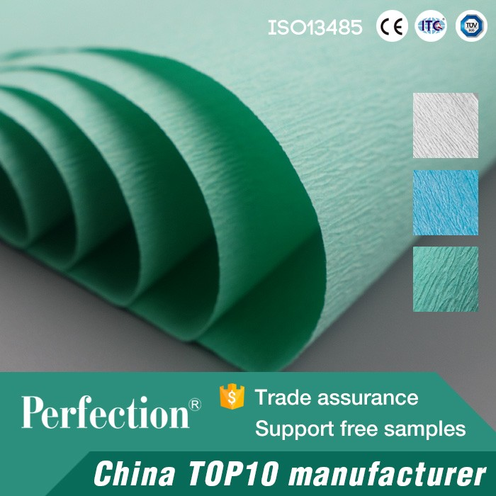 Sterilization consumables crepe wrapping paper green/blue/white for medical supplies