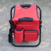 Lightweight outdoor travel portable cooler bag with chair foldable picnic camping coole bag with chair DF-23-44
