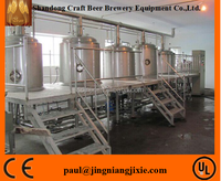 high quality 2000L stainless steel 304 beer fermenting turnkey plant with CE certificate for sale
