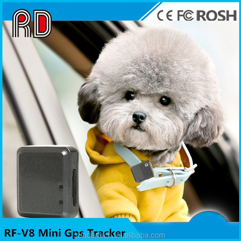 China supplier micro hidden tracker gps rf-v8 pet gps tracker with long time standby battery