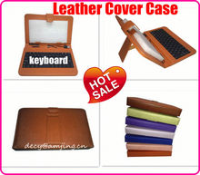 Leather Case with Keyboard for iPad 2 3 4, For iPad Leather Flip Case with Keyboard