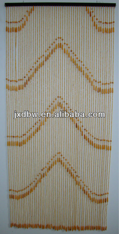 Chinese Decorative Beads Thread Door Wooden Curtains Factory