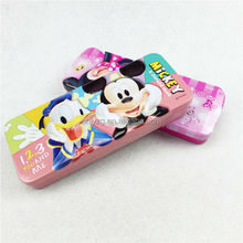 two layers rectangle shape package pencil tin box