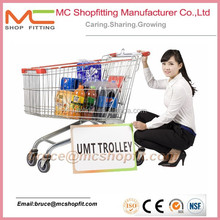 60-240 Liters Supermarket Shopping Trolley,Store Grocery Shopping Carts
