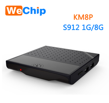 Wechip Android tv box KM8 P XMBC 17.0 Android6.0 Amlogic S912 1G/8G KM8P Install google play store unblock tv box