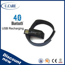 2015 hot sales bluetooth smart sports wirstband, accelerometer bracelet, electronic hour counter display