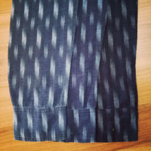 100% cotton double weave indigo yarn dyed garment fabric price