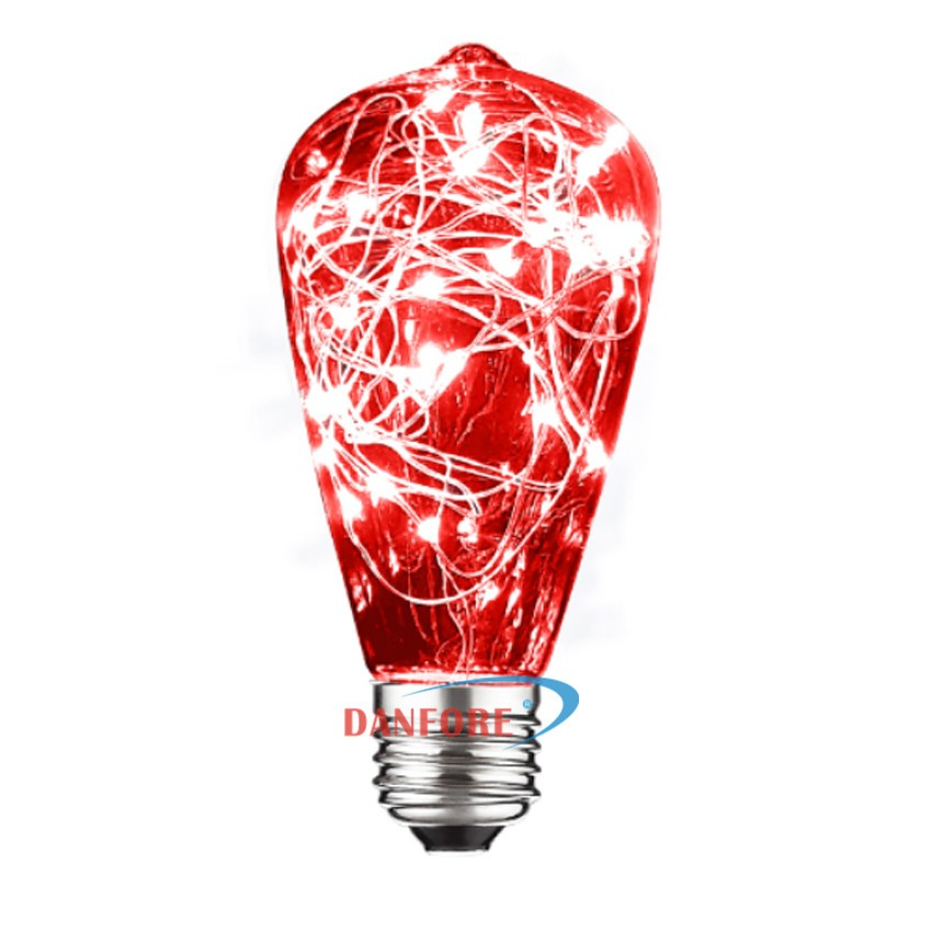 ST64 Colored Star light Copper Wire LED bulb for christmas holiday