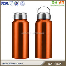Customized double walled vacuum sealed water bottle stainless