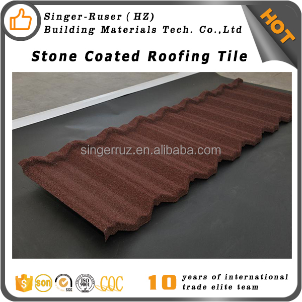 Residential Building Material Corrugated Metal Stone Coated Roof Spanish style roof tiles prices