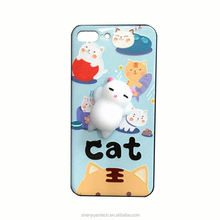 Wholesale Super Cute 3D Elastic Kneading Decompression Toy IMD Soft TPU Sleep Lazy Cat Phone Case For IPhone /Samsung