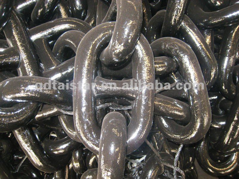 stud link anchor chain for marine
